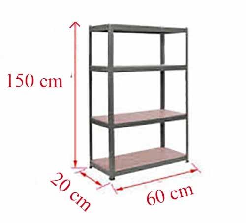 ست قفسه پیچ و مهره ای انباری به طول 60 عمق 20 سانتیمتر